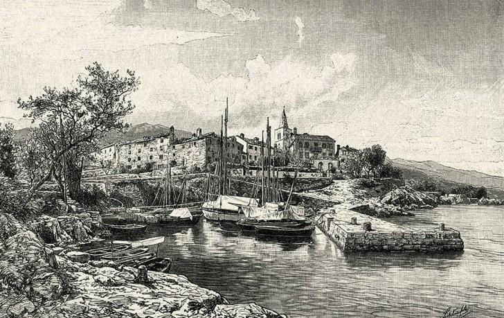 Isztriai tájkép, 1892